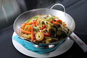 Wok oriental aux crevettes